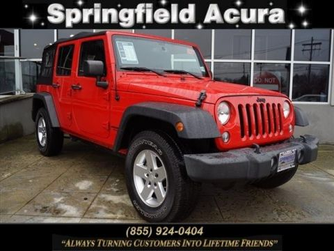 Pre-Owned 2015 Jeep Wrangler Unlimited 4WD 4dr Sport